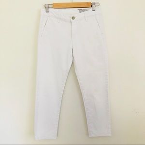 Adriano Goldschmied slim straight white crop